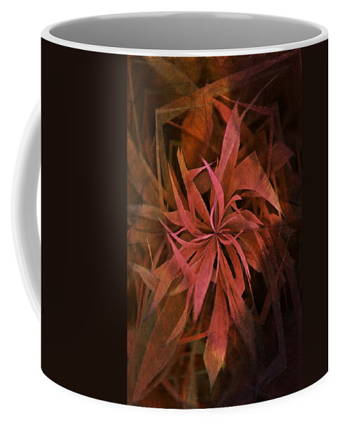 Grass Abstract Coffee Mug featuring the photograph Grass Abstract - Fire by Marianna Mills