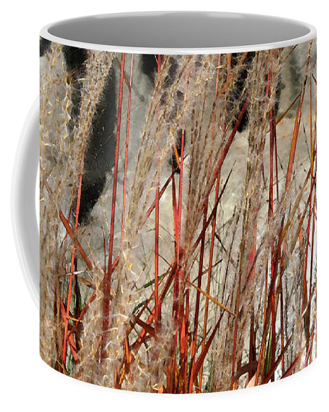 Grass Coffee Mug featuring the photograph Grass Abstract by Mary Bedy