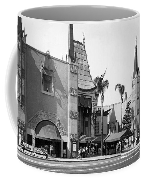 1940's Coffee Mug featuring the photograph Grauman's Chinese Theater by Underwood Archives
