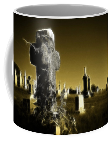 Graveyard Coffee Mug featuring the photograph Graveyard 4730 by Timothy Bischoff