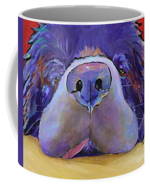 Pat Saunders-white Canvas Prints Coffee Mug featuring the painting Graysea by Pat Saunders-White
