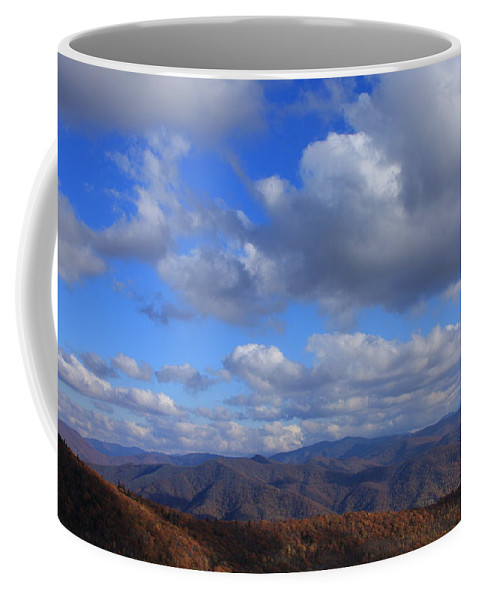 Waterrock Knob Coffee Mug featuring the photograph Great Balsam Mountains From Waterrock Knob by Mountains to the Sea Photo
