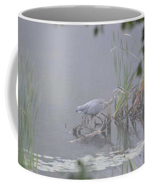 Great Blue Heron Coffee Mug featuring the photograph Great Blue Heron by Thomas Phillips