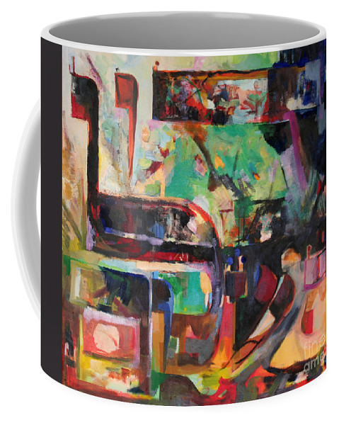 Jewish Art Coffee Mug featuring the painting Great Is Peace by David Baruch Wolk