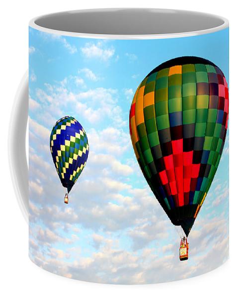 Great Texas Balloon Races Coffee Mug featuring the photograph Great Texas Balloon Races by Kathy White