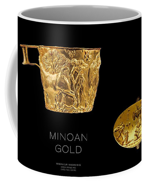 Ancient Greece Coffee Mug featuring the digital art Greek Gold - Minoan Gold by Helena Kay