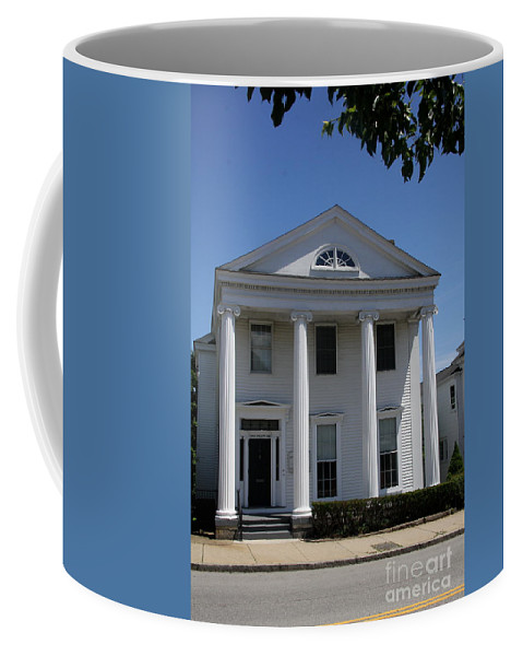 House Coffee Mug featuring the photograph Greek Revival House - New London Ct by Christiane Schulze Art And Photography