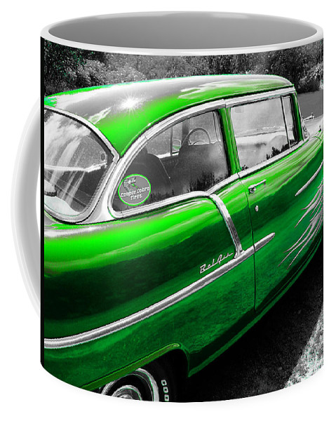 Green Chevy Coffee Mug featuring the photograph Green 1957 Chevy by Sherman Perry