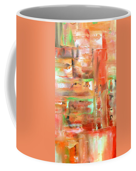 Lyle Coffee Mug featuring the painting Green 4 by Lord Frederick Lyle Morris - Disabled Veteran
