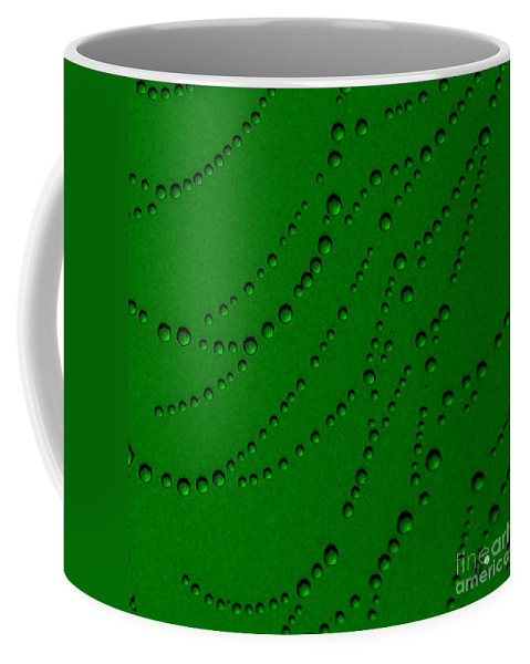 Green Coffee Mug featuring the photograph Green Abstract by Ronald Grogan