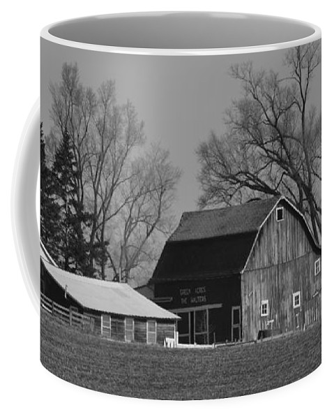 Black Coffee Mug featuring the painting Green Acres by Kirt Tisdale