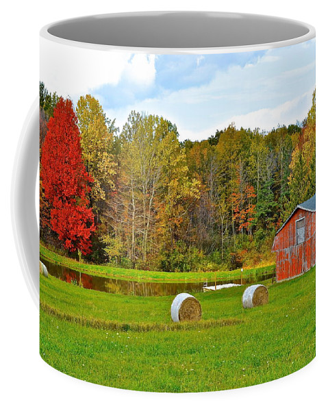 Green Coffee Mug featuring the photograph Green Acres by Frozen in Time Fine Art Photography