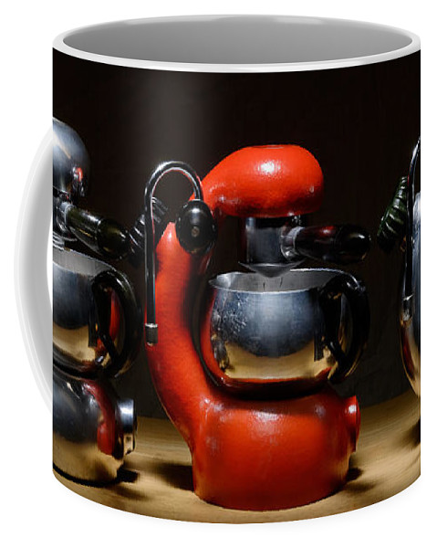 Atomic Coffee Mug featuring the photograph Green And Orange Atomic 3 by Frank Kletschkus