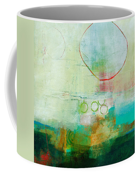 Acrylic Coffee Mug featuring the painting Green And Red 6 by Jane Davies