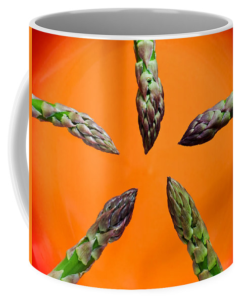 Green Asparagus Coffee Mug featuring the photograph Green Asparagus - Fresh Food Photography by Alexander Voss
