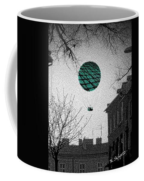 Balloon Coffee Mug featuring the digital art Green Balloon by Kelly Schutz