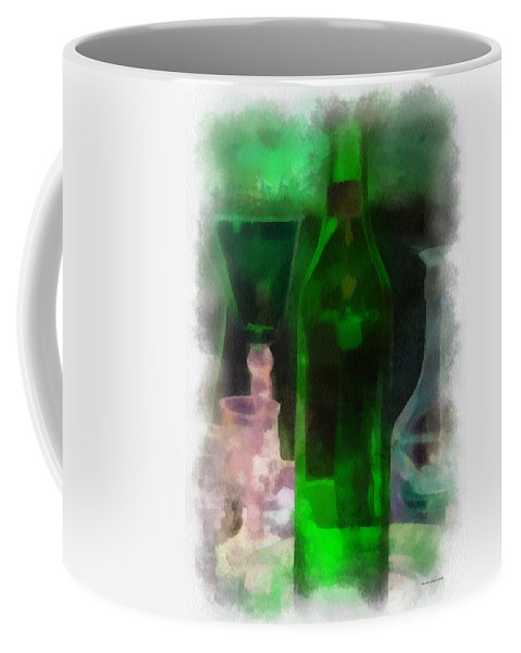 Bottle Coffee Mug featuring the photograph Green Bottle Photo Art by Thomas Woolworth