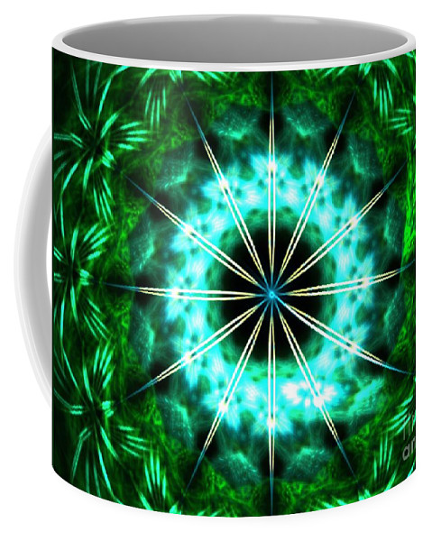 Apophysis Coffee Mug featuring the digital art Green Compass by Kim Sy Ok