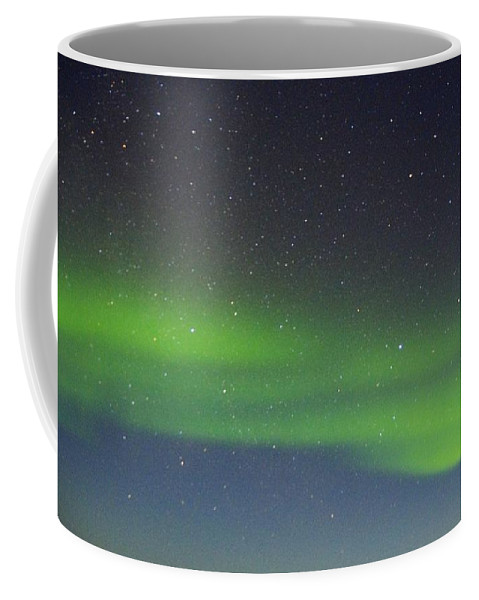 Alaska Aurora Borealis Coffee Mug featuring the photograph Green Dancing Lady 14 by Phyllis Spoor