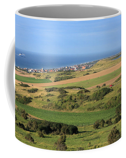 France Coffee Mug featuring the photograph Green Fields Of France by Aidan Moran
