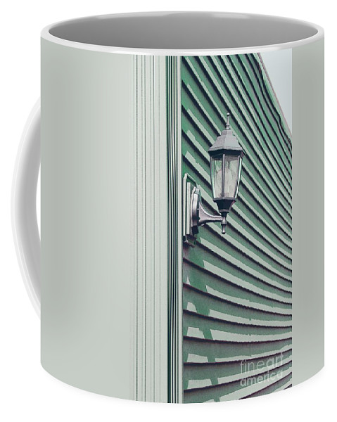 Wall Coffee Mug featuring the photograph Green Geometry by Ann Horn