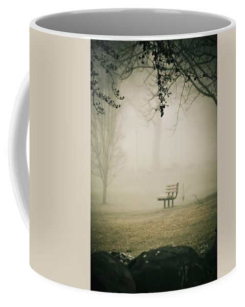 Green Lane Coffee Mug featuring the photograph Green Lane On A Foggy Morning by Trish Tritz