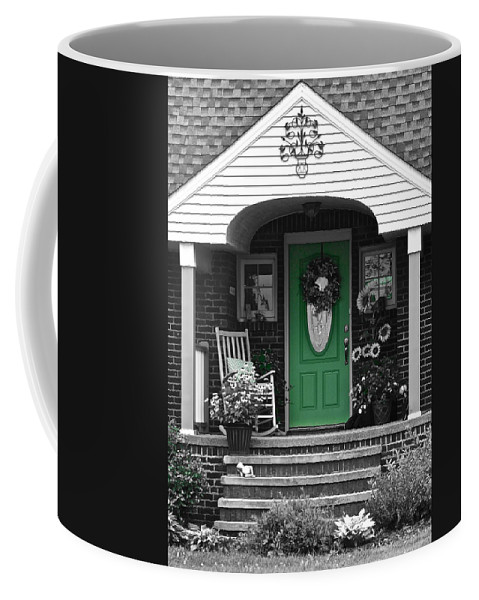 Welcome Coffee Mug featuring the photograph Green Means Go by Frozen in Time Fine Art Photography