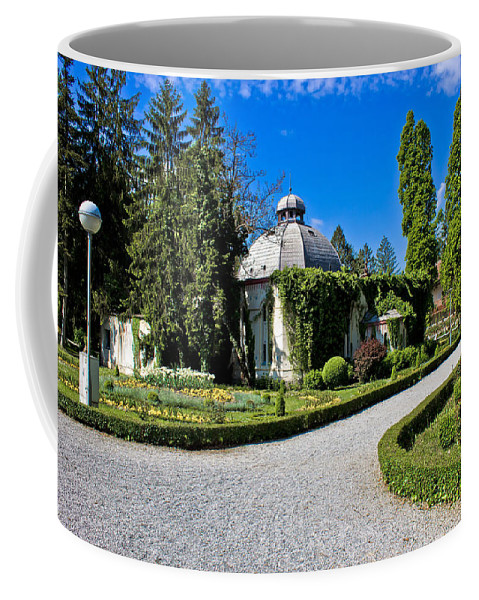 Croatia Coffee Mug featuring the photograph Green Park In Daruvar With Old Thremae by Brch Photography