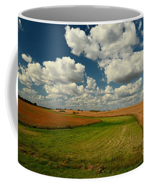 Grass Coffee Mug featuring the photograph Green River Vii by Debbie Portwood
