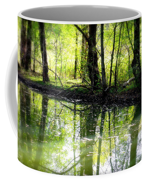 Water Coffee Mug featuring the photograph Green Shadows by Valentino Visentini