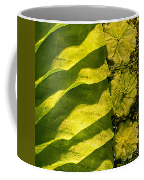 Cambodian Coffee Mug featuring the photograph Green Silk 03 by Rick Piper Photography