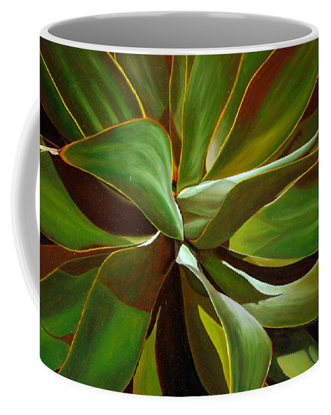 Plant Coffee Mug featuring the painting Green by Thu Nguyen