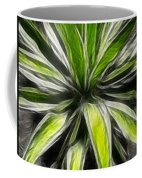 Plant Coffee Mug featuring the digital art Green Tidings Of Joy by Bobbie Barth