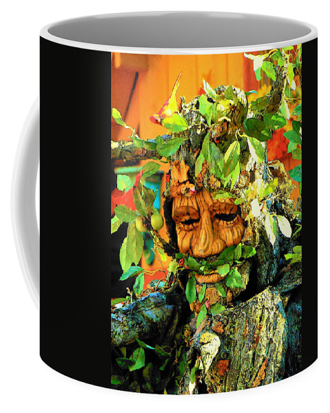 Fine Art Coffee Mug featuring the photograph Greenman by Rodney Lee Williams