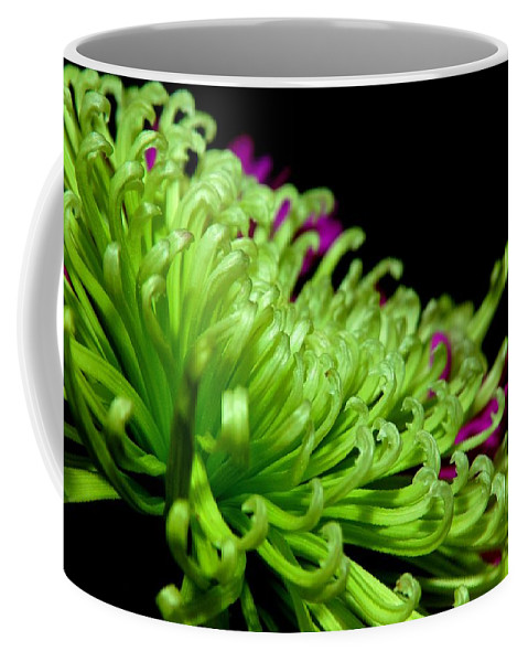 Macro Coffee Mug featuring the photograph Greens by Kathy McCabe