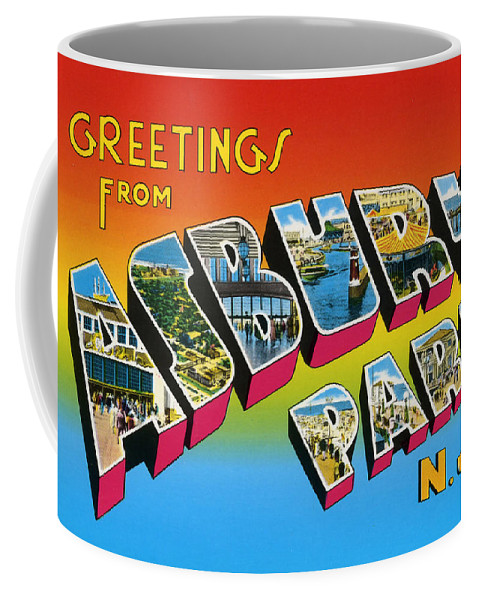 Greetings from asbury park nj coffee mug for sale by bill cannon front right view m4hsunfo