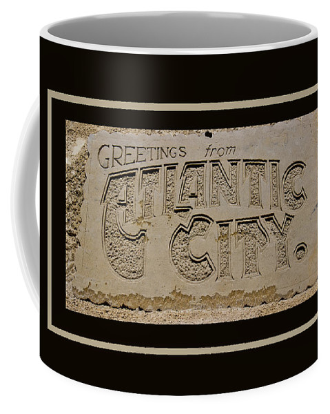 Greetings Coffee Mug featuring the photograph Greetings From Atlantic City by Tom Gari Gallery-Three-Photography