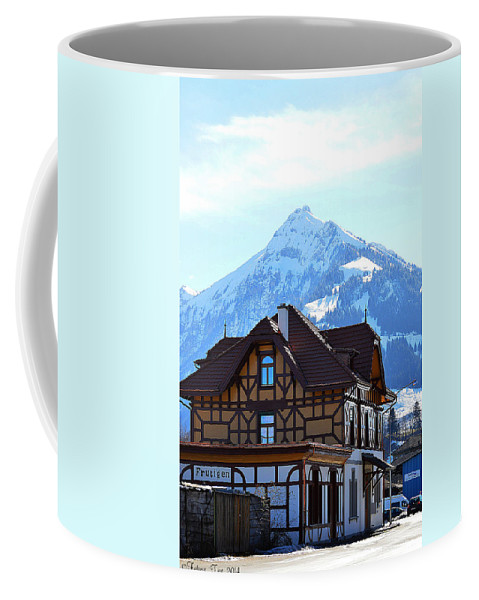 Switzerland Coffee Mug featuring the photograph Greetings From Frutigen by Felicia Tica