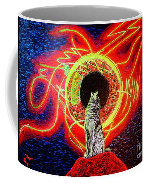 Wildlife Coffee Mug featuring the painting Grey by Viktor Lazarev