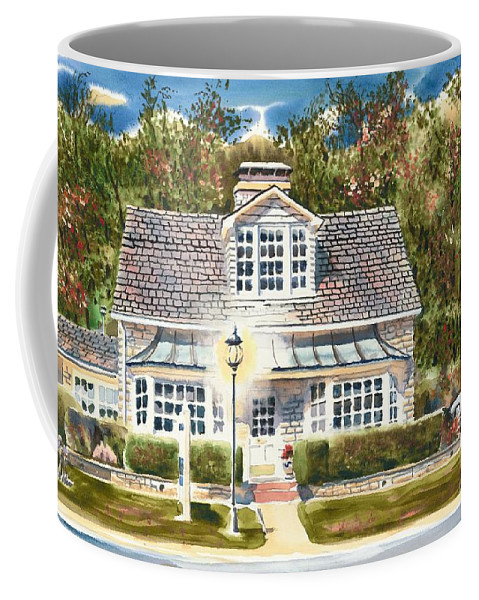 Greystone Inn Ii Coffee Mug featuring the painting Greystone Inn II by Kip DeVore