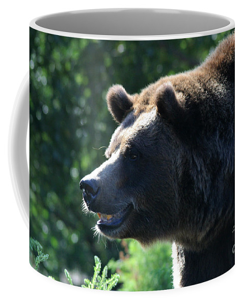 Animal Coffee Mug featuring the photograph Grizzly-7755 by Gary Gingrich Galleries