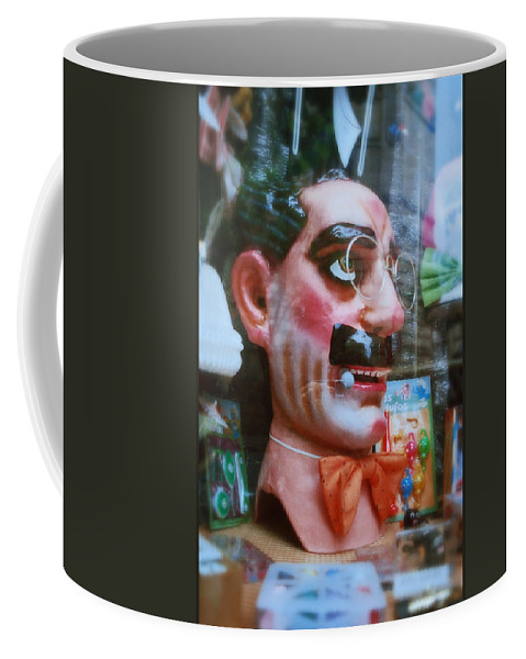 Groucho Marx Coffee Mug featuring the painting Groucho by Charles Stuart