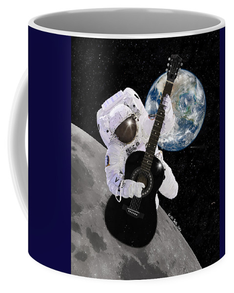 Astronaut Coffee Mug featuring the digital art Ground Control To Major Tom by Nikki Marie Smith