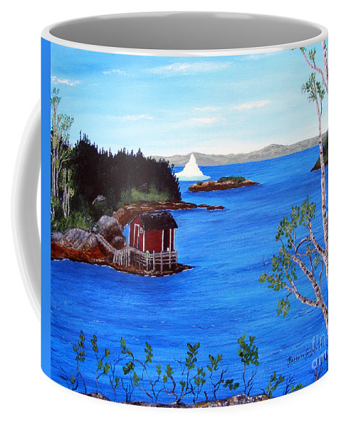 Grounded Iceberg Coffee Mug featuring the painting Grounded Iceberg by Barbara Griffin