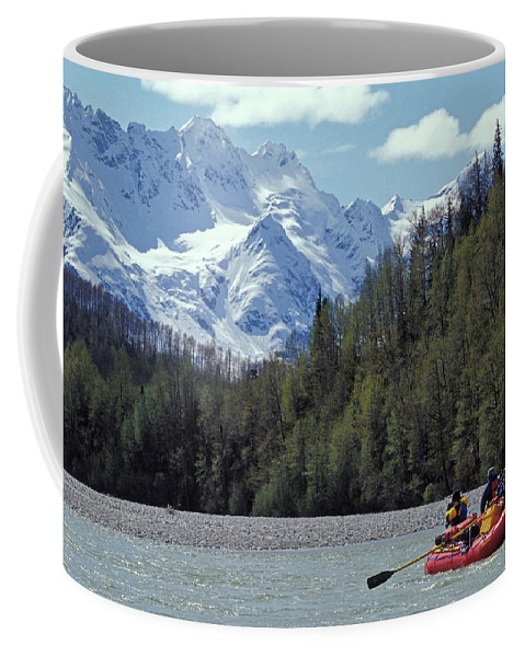 Achieve Coffee Mug featuring the photograph Group Of Adventurers Rafting On Upper by Henry Georgi