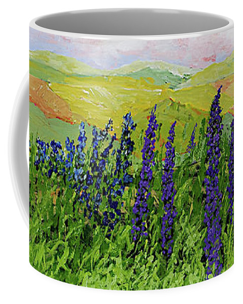 Landscape Coffee Mug featuring the painting Growing Tall by Allan P Friedlander