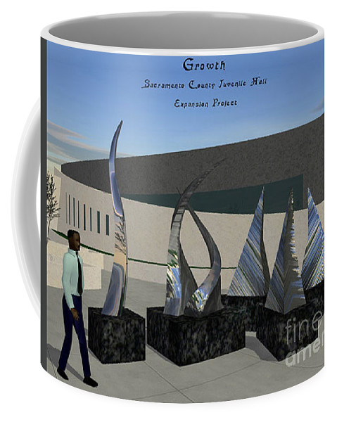 Growth Coffee Mug featuring the sculpture Growth by Peter Piatt