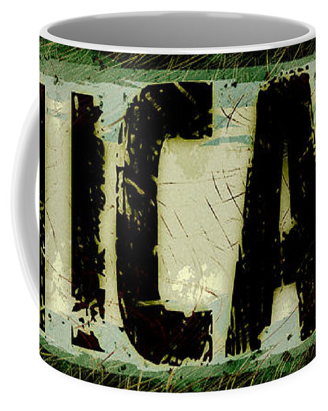 Chicago Coffee Mug featuring the digital art Grunge Style Chicago Sign by David G Paul