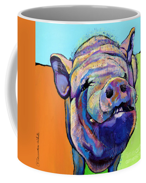 Pat Saunders-white Canvas Prints Coffee Mug featuring the painting Grunt  by Pat Saunders-White