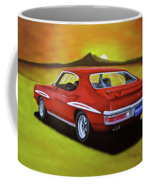 1971 Gto Coffee Mug featuring the painting Gto 1971 by Thomas J Herring